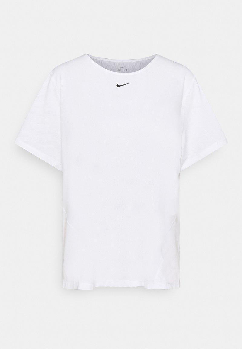 Nike Performance - ALL OVER PLUS - T-shirt - bas - white/black