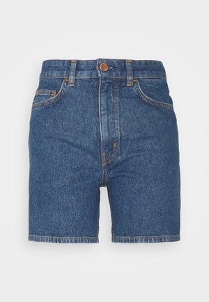A-SHAPED FIT MID LENGTH LOOSE TURN UP HEM - Jeansshorts - multi/bright 80s mid blue