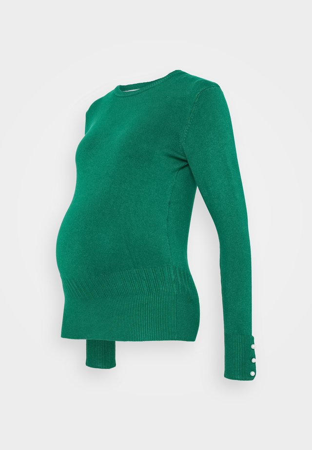 CUFF CREW NECK JUMPER - Trui - green