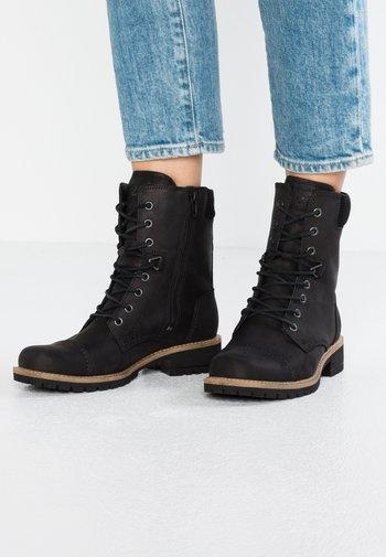 ELAINE - Šněrovací kotníkové boty - black