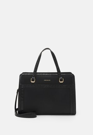 VERA BORDER LAPTOP BAG - Tote bag - black