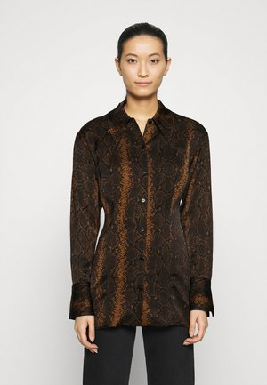 Button-down blouse - brown medium dusty
