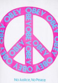 Obey Clothing - PEACE - Basic T-shirt - white - 7