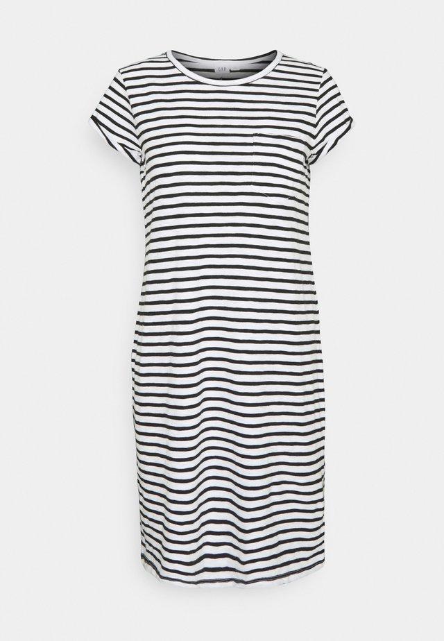 TEE DRESS - Sukienka z dżerseju - black/white