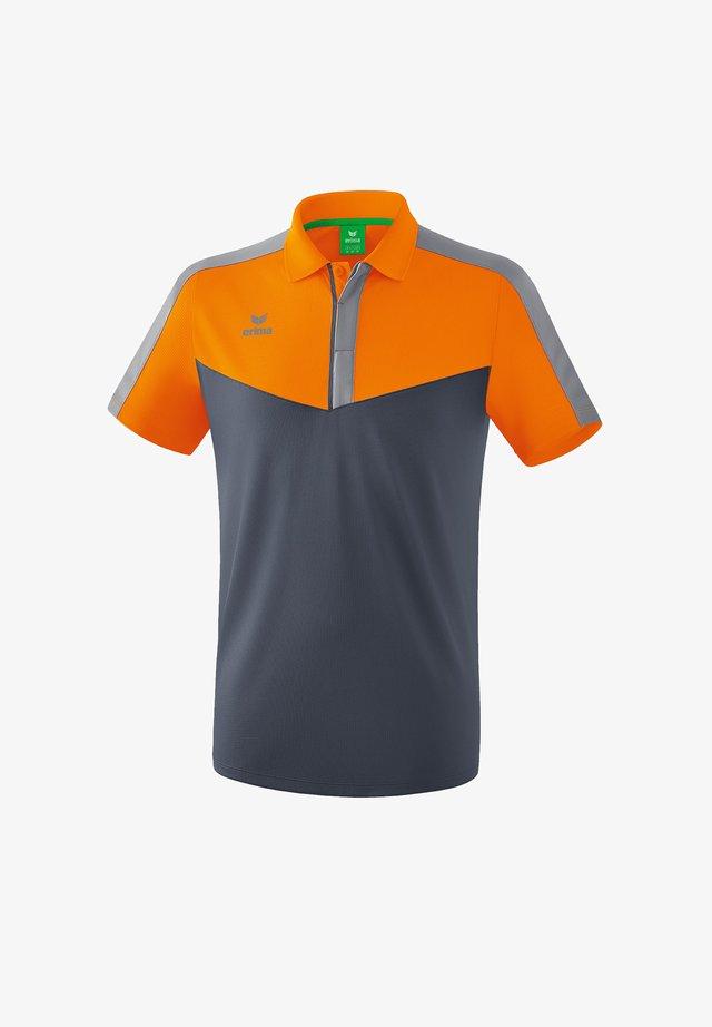 Print T-shirt - orangegrau
