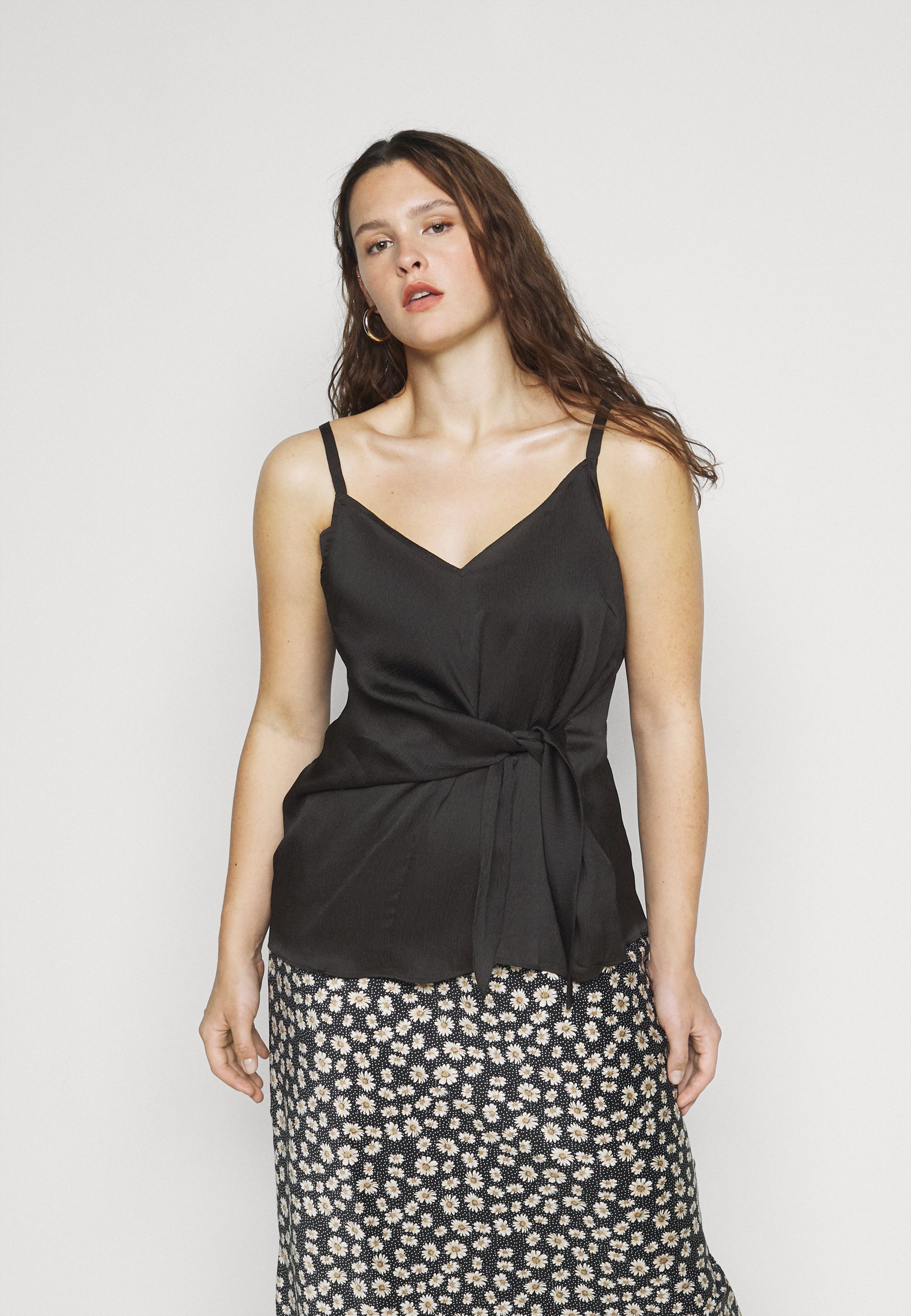 Women KNOT FRONT HAMMERED - Top