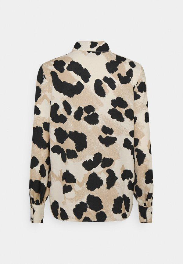 Vero Moda VMGREETA - Koszula - creme brûlée/greeta/jasnobrązowy IVAR