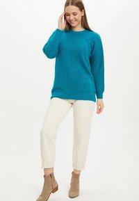 DeFacto - TUNIC - Langærmede T-shirts - turquoise - 1