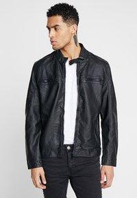 Brave Soul - JONES - Faux leather jacket - black - 0