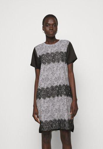 Day dress - ivory multi/black