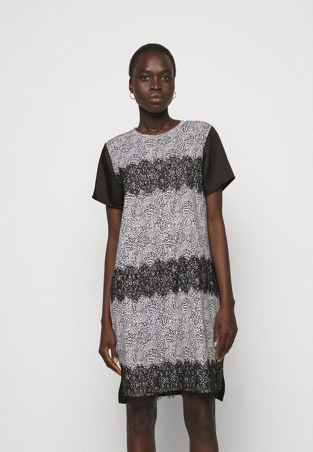 Sukienka letnia - ivory multi/black