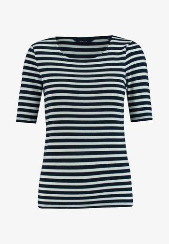 GANT DAMEN SHIRT KURZARM - Print T-shirt - marine