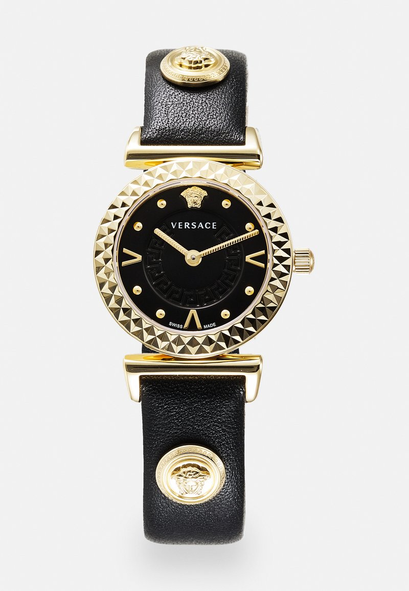 Versace Watches - MINI VANITY - Watch - black/goldcolored