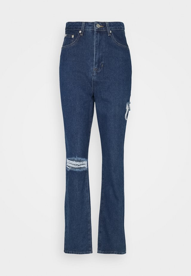 THIGH AND KNEE SLIT - Jeans a sigaretta - indigo