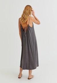 PULL&BEAR - Denní šaty - dark grey - 1