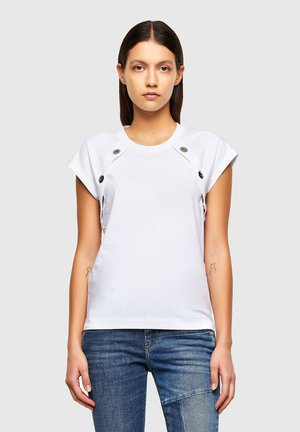 T-TALLER - T-shirt con stampa - white