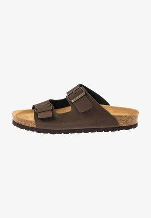 KORFU - Slippers - brown/bronze//grey