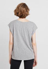 Noisy May - NMMATHILDE  - Basic T-shirt - light grey melange - 2