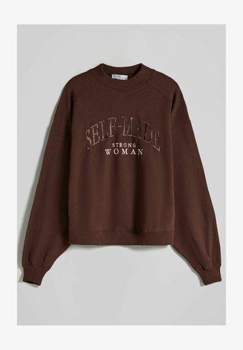 OVERSIZE - Felpa - brown