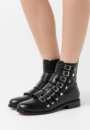 FOR STRAP - Cowboy/biker ankle boot - noir