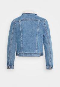 New Look - BORG JACKET MELISSA - Denim jacket - mid blue - 1
