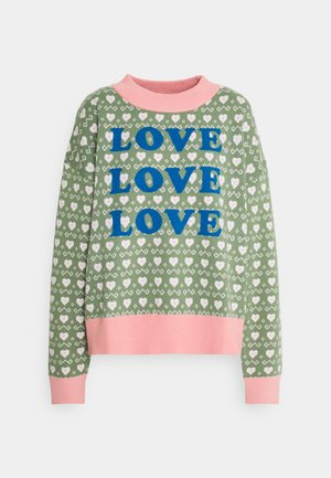 LOVE LOVE LOVE JUMPER - Jumper - green