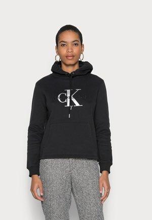 GLOSSY MONOGRAM HOODIE - Sweatshirt - black