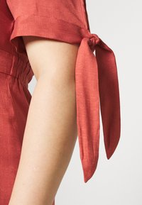 Glamorous Curve - TIE SLEEVE MIDI DRESS - Day dress - faded red - 4