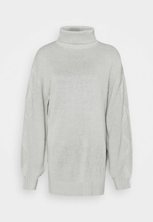 ROLL NECK CABLE SLEEVE JUMPER - Pullover - lunar rock