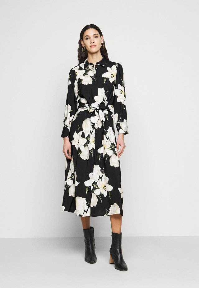 OBJCASANDRA MIDI DRESS - Skjortekjole - black