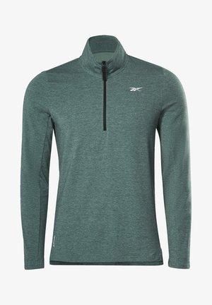 ACTIVCHILL+COTTON QUARTER-ZIP TOP - Sweatshirt - green