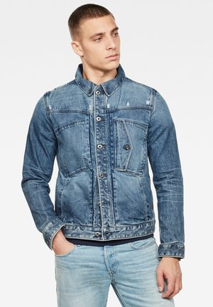 SCUTAR SLIM - Denim jacket - faded regal blue