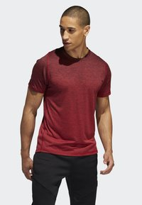 adidas Performance - FREELIFT 360 GRADIENT GRAPHIC T-SHIRT - T-shirts print - red - 0