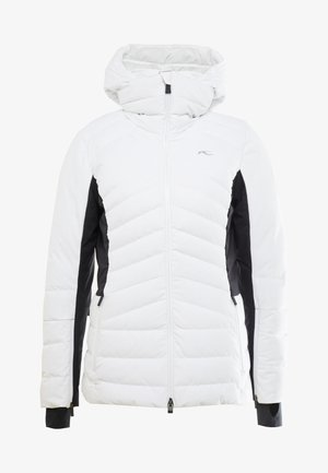 WOMEN DUANA JACKET - Lyžařská bunda - white/black