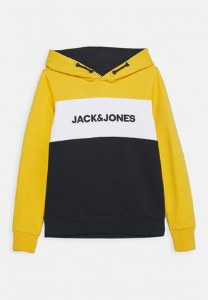 JJELOGO BLOCKING HOOD - Sweat à capuche - yolk yellow