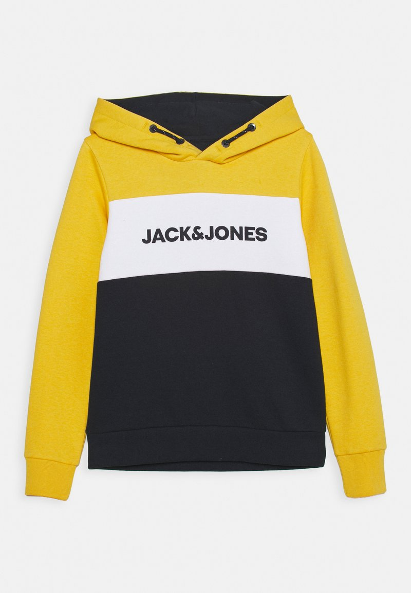Jack & Jones Junior - JJELOGO BLOCKING HOOD JR - Hættetrøjer - yolk yellow