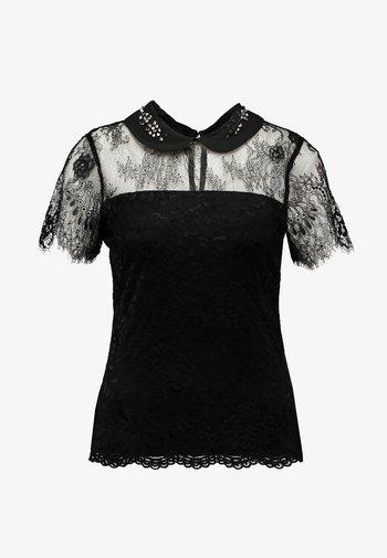 DAMIEN - Blouse - noir/off white