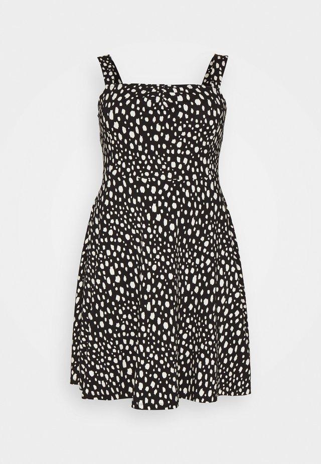 CURVE STRAPPY DRESS - Vestito di maglina - black
