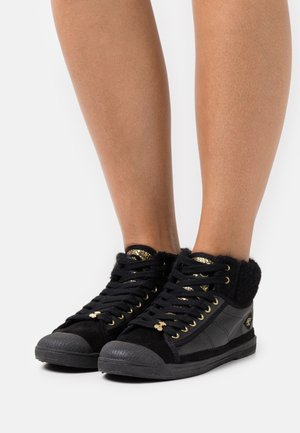 BASIC  - High-top trainers - black/gold
