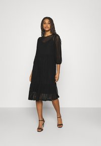 Vero Moda - VMGAIA 3/4 SLEEVE DRESS  - Cocktail dress / Party dress - black - 0