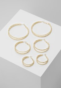 Missguided - DOUBLE HOOP 3 PACK - Earrings - gold-coloured - 0