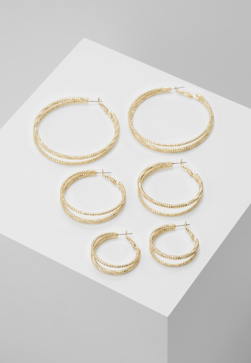 Missguided - DOUBLE HOOP 3 PACK - Earrings - gold-coloured