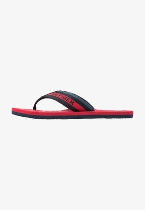 MARITIME BEACH - T-bar sandals - red