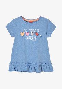 s.Oliver - Print T-shirt - light blue melange - 0