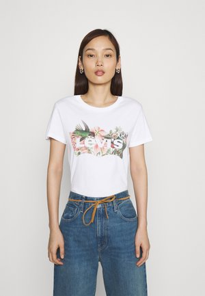 THE PERFECT TEE - T-shirt z nadrukiem - white