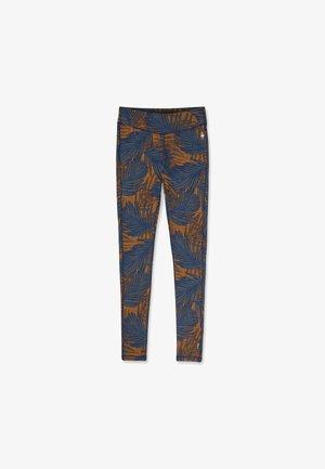 MIDWEIGHT 250 BASELAYER PATTERN - Leggings - Trousers - deep navy palm