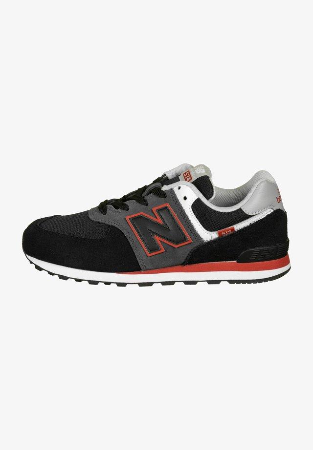Sneakers - black/grey/red