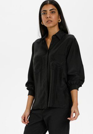 Button-down blouse - meteorite