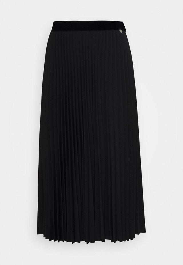 PLISSEE SKIRT - Gonna a campana - black