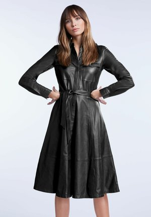 IN A-LINIE - Shirt dress - black